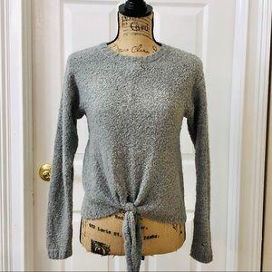 True Craft fuzzy tie front sweater